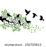 Illustration Of Tree And Bird...