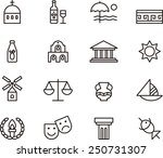 greece icon set | Shutterstock .eps vector #250731307
