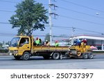 Small photo of CHIANGMAI, THAILAND - DECEMBER 23 2014: Garden truck of Department of Highways.