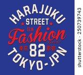 tokyo typography  t shirt...   Shutterstock .eps vector #250739743