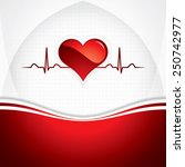 heart and heartbeat symbol...   Shutterstock . vector #250742977
