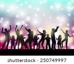 dancing women and men with... | Shutterstock .eps vector #250749997