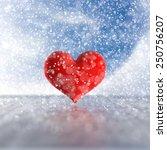 3d rendering of the heart in...   Shutterstock . vector #250756207