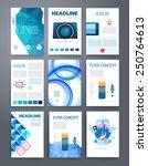 templates. design set of web ... | Shutterstock .eps vector #250764613