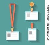 badge template  name bag holder ...   Shutterstock .eps vector #250783387