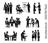 teamwork icons black set with... | Shutterstock .eps vector #250787563