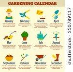 garden and farming calendar... | Shutterstock .eps vector #250789117