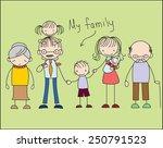 vector children's doodle of... | Shutterstock .eps vector #250791523