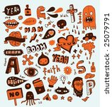 weird doodles. click on my name ... | Shutterstock .eps vector #25079791