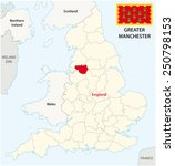greater manchester county map... | Shutterstock .eps vector #250798153