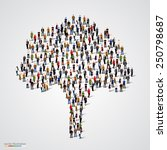 large tree formed out of people.... | Shutterstock .eps vector #250798687