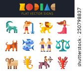 flat zodiac signs  astrology.... | Shutterstock .eps vector #250798837