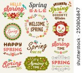 Vintage Spring Typography...
