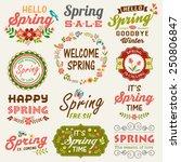 Vintage Spring Typography...