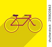 flat icon of bicycle | Shutterstock .eps vector #250820863