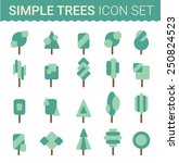 set of flat tree icon. vector... | Shutterstock .eps vector #250824523