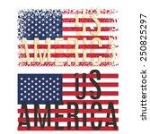 print poster apparel t shirt... | Shutterstock .eps vector #250825297