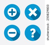 plus and minus icons. delete... | Shutterstock .eps vector #250829803
