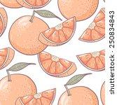 grapefruit seamless pattern.... | Shutterstock .eps vector #250834843