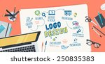 flat design illustration... | Shutterstock .eps vector #250835383