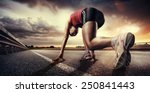 Stock photo sport runner 250841443