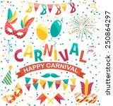 carnival icons isolated on... | Shutterstock .eps vector #250864297