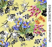 seamless floral pattern on... | Shutterstock .eps vector #250878403