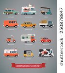 vector set of various urban and ... | Shutterstock .eps vector #250878847