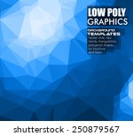 low poly trangular trendy... | Shutterstock .eps vector #250879567