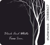 black and white icon with trees....   Shutterstock .eps vector #250880617