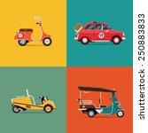 vector trendy flat design icons ...   Shutterstock .eps vector #250883833