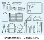 linear stock illustration... | Shutterstock .eps vector #250884247