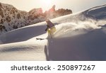 Male Skier On Downhill...