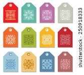 collection of 12 hang tags.... | Shutterstock .eps vector #250918333
