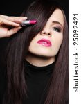 attractive young brunette with... | Shutterstock . vector #25092421