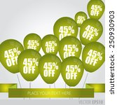 green balloons with sale... | Shutterstock .eps vector #250930903