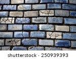 Blue Cobblestones In Old San...