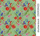 seamless floral pattern on... | Shutterstock . vector #250939423