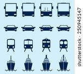 transportation icons | Shutterstock .eps vector #250945147