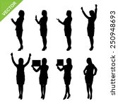 business woman silhouettes... | Shutterstock .eps vector #250948693