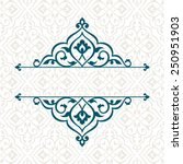 vintage invitation card with... | Shutterstock .eps vector #250951903