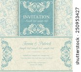antique baroque invitation ... | Shutterstock .eps vector #250953427