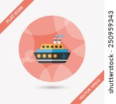 transportation ferry flat icon... | Shutterstock .eps vector #250959343