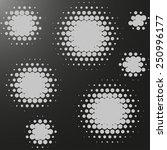 abstract vector halftone... | Shutterstock .eps vector #250996177