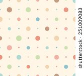 Color Seamless Textured Polka...