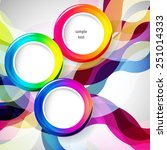 abstract background with round... | Shutterstock .eps vector #251014333