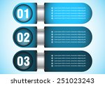 infographics numbered banners   ... | Shutterstock .eps vector #251023243