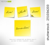 yellow note sticker with... | Shutterstock .eps vector #251036203