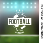 soccer football typography... | Shutterstock .eps vector #251053543