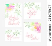invitation card for wedding... | Shutterstock .eps vector #251075677